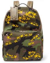 Valentino Zandra Rhodes Garavani Camouflage Canvas Backpack
