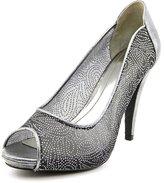 Style&Co. Style & Co Naveah Women US 8.5 Silver Peep Toe Heels