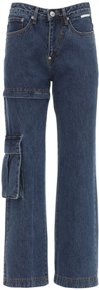 pushBUTTON Denim Cargo Jeans W/ Detachable Leg