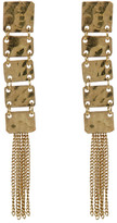 Jardin Hammered Squares & Chain Fringe Dangle Earrings