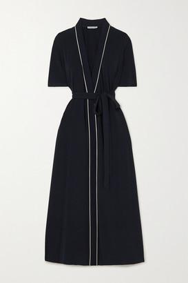 ODYSSEE Vauban Jersey Wrap Maxi Dress - Navy