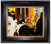 """Overstockart """"New York Restaurant"""" Gold Framed Canvas Wall Art by Edward Hopper"""