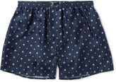 Derek Rose - Otis Printed Silk Boxer Shorts