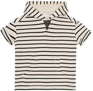 BRUNELLO CUCINELLI KIDS Exclusive to Mytheresa Striped cotton hoodie