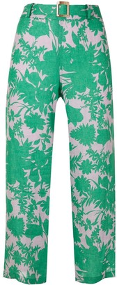 Alexis Ernest botanical print trousers