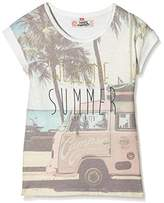 Camps Girl's Printed T-Shirt - Off-White