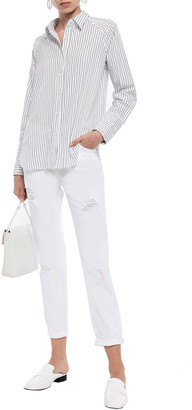 Current/Elliott The Cropped Straight Faded Mid-rise Straight-leg Jeans