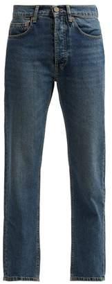 Raey 1970s Slim-leg Jeans - Womens - Dark Blue