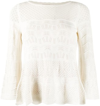 Twin-Set crocheted knit top