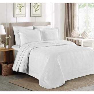 Everrouge 3pcs Kingston Oversized Quilted Bedspread Set, Khaki Queen
