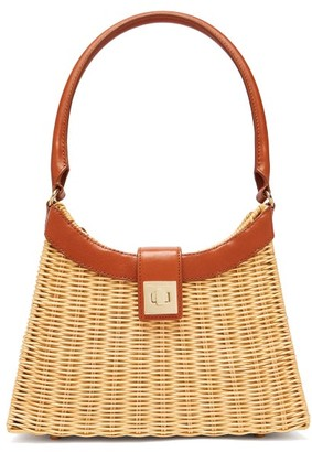 Sparrows Weave - The City Wicker And Leather Bag - Tan Multi
