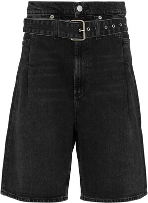 AGOLDE Reworked '90s belted denim shorts