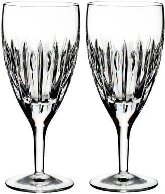 Waterford Mara Set of 2 Lead Crystal Iced Beverage Glasses
