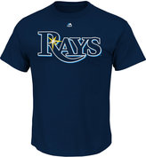 Majestic Men's Tampa Bay Rays Team Wordmark T-Shirt