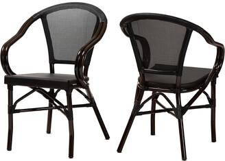Design Studios Set Of 2 Artus Indoor & Outdoor Stackable Bistro Dining Chairs