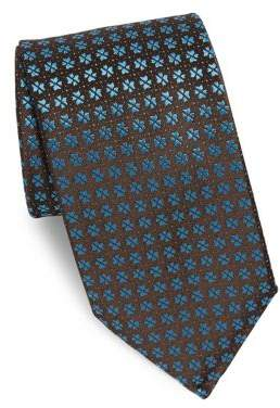 Charvet Brown Split Tree Silk Tie