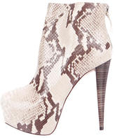 Alice + Olivia Embossed Ankle Boots