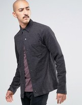 ONLY & SONS Heavy Jersey Shirt with Press Stud Front