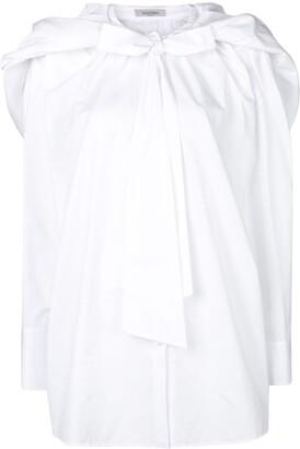 Valentino bow button down shirt