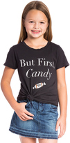 Junk Food Clothing But First Candy Tee