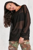 Truly Madly Deeply High/Low Oversized Mesh Tee