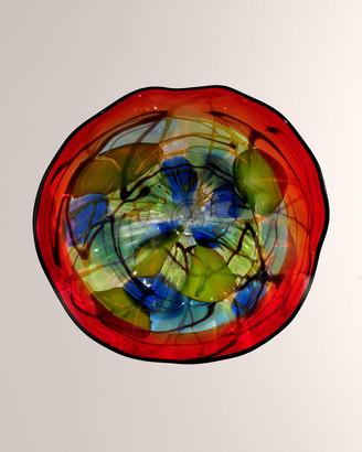 "Dale Tiffany Hankley Art Glass Sculpture, 9"""