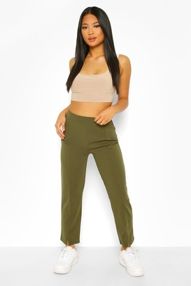 boohoo Petite Split Hem Tailored Trouser