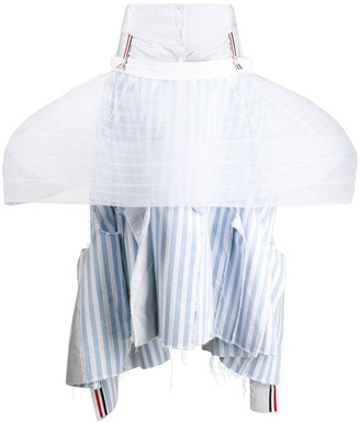 Thom Browne Frill Trim Full Skirt