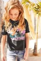 Next Girls Charcoal California Knot Sleeve T-Shirt (3-16yrs)