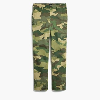 J.Crew Camo high-rise girlfriend chino pant