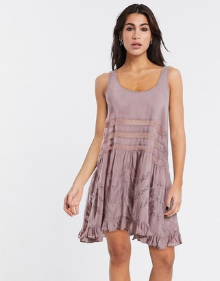 Free People trapeze slip mini dress