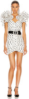 Alessandra Rich Polka Dot Mini Dress in White | FWRD