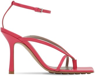 Bottega Veneta 90mm Crisscross Leather Sandals