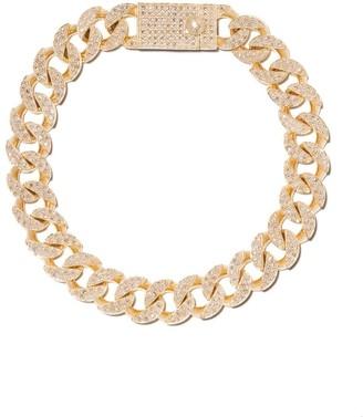 Loree Rodkin 14kt Gold Diamond Pave Link Bracelet