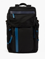 Marni Navy Canvas And Leather Backpack
