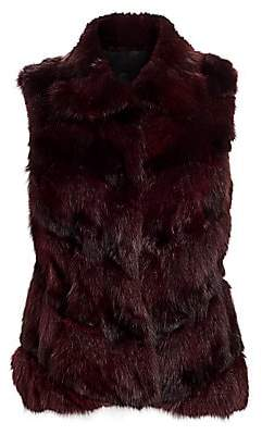 The Fur Salon Women's Sable Fur Sections Vest