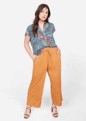 MANGO Printed boho blouse