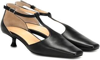 BY FAR Bella T-bar leather sandals