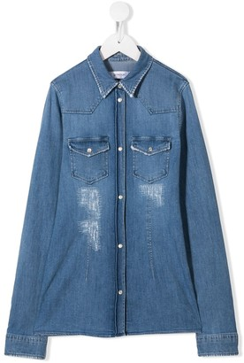 Dondup Kids Faded Denim Shirt