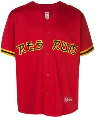 Supreme Red Rum baseball jersey