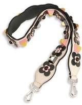 Fendi Strap You Embellished Leather Shoulder Strap