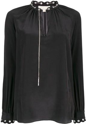 MICHAEL Michael Kors Chain Embellished Blouse