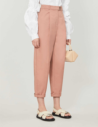 Topshop Charley slim-fit woven-twill trousers
