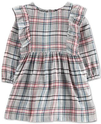 Carter's Carter Baby Girls Plaid Twill Dress