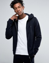 AllSaints Zip Hoodie with Chest Branding