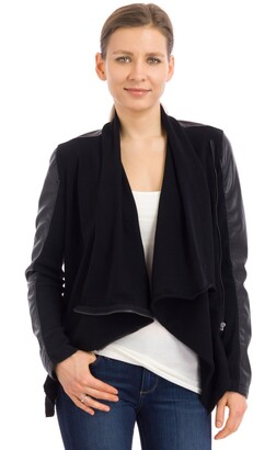 Blank NYC Women's Faux-leather and Knit Jacket