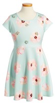 Hannah Banana Girl's Floral Print Scuba Dress