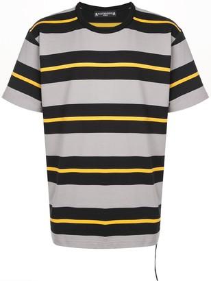 Mastermind World crew neck striped print T-shirt