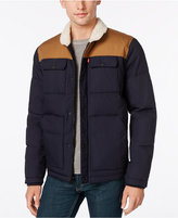 Levi's Men's Quilted Workwear Puffer with Faux-Fur Collar