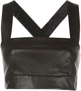 Rosetta Getty Leather Crop Top